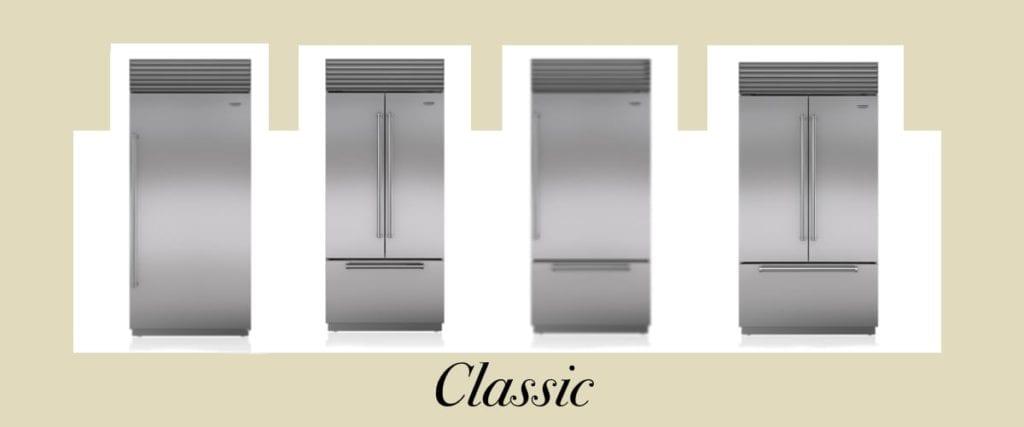 Sub-Zero Classic vs Designer Series Refrigerators - Classic