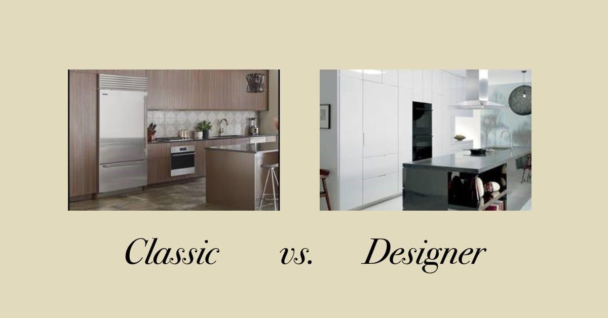 Sub-Zero Classic vs Designer Series Refrigerators